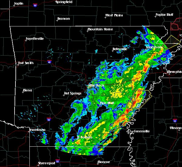 Radar Image for Severe Thunderstorms near Elaine, AR at 3/28/2020 6:29 PM CDT