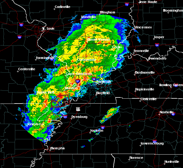 Radar Image for Severe Thunderstorms near Portageville, MO at 3/28/2020 6:30 PM CDT