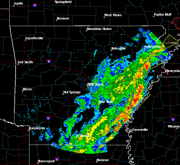 Radar Image for Severe Thunderstorms near Elaine, AR at 3/28/2020 6:36 PM CDT