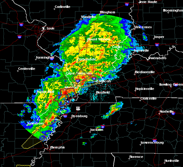 Radar Image for Severe Thunderstorms near New Madrid, MO at 3/28/2020 6:44 PM CDT
