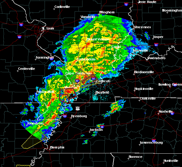 Radar Image for Severe Thunderstorms near New Madrid, MO at 3/28/2020 6:45 PM CDT
