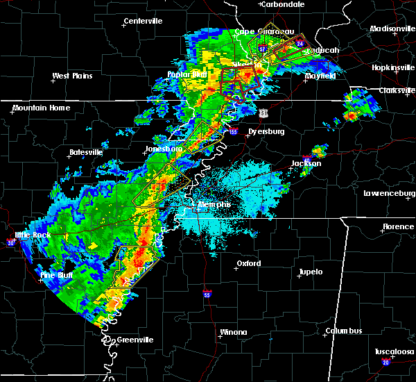 Radar Image for Severe Thunderstorms near Friars Point, MS at 3/28/2020 6:54 PM CDT