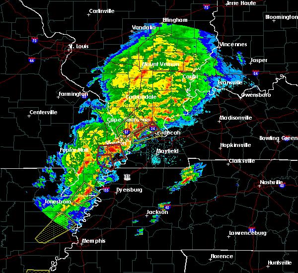 Radar Image for Severe Thunderstorms near Charleston, MO at 3/28/2020 6:54 PM CDT