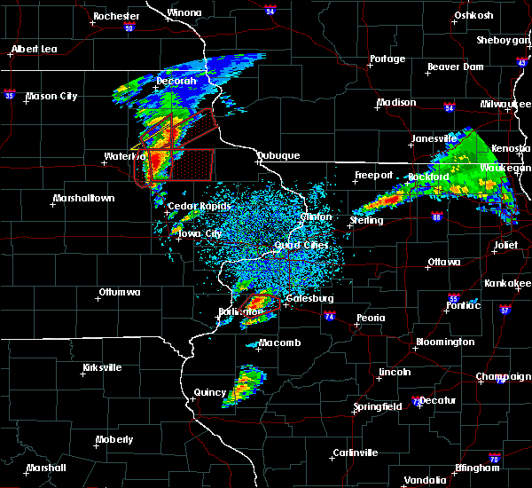 Radar Image for Severe Thunderstorms near Kirkwood, IL at 3/28/2020 6:59 PM CDT