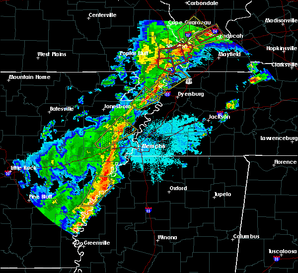 Radar Image for Severe Thunderstorms near Friars Point, MS at 3/28/2020 7:00 PM CDT