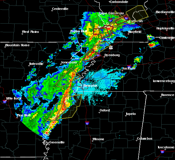 Radar Image for Severe Thunderstorms near Hughes, AR at 3/28/2020 7:05 PM CDT