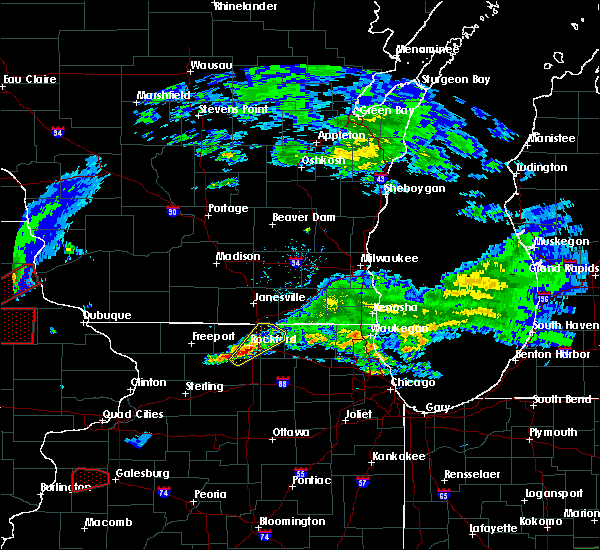 Radar Image for Severe Thunderstorms near New Milford, IL at 3/28/2020 7:11 PM CDT