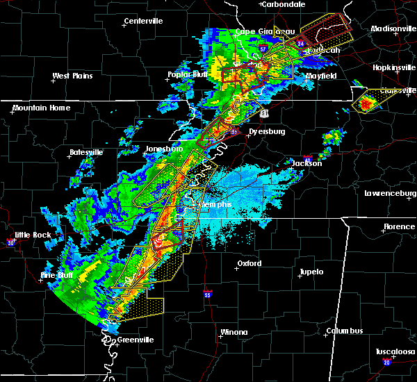 Radar Image for Severe Thunderstorms near Hughes, AR at 3/28/2020 7:14 PM CDT