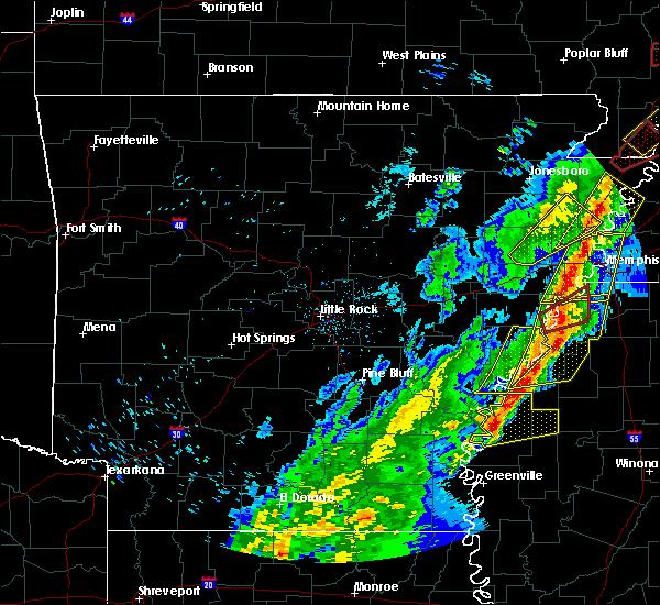 Radar Image for Severe Thunderstorms near Alligator, MS at 3/28/2020 7:18 PM CDT