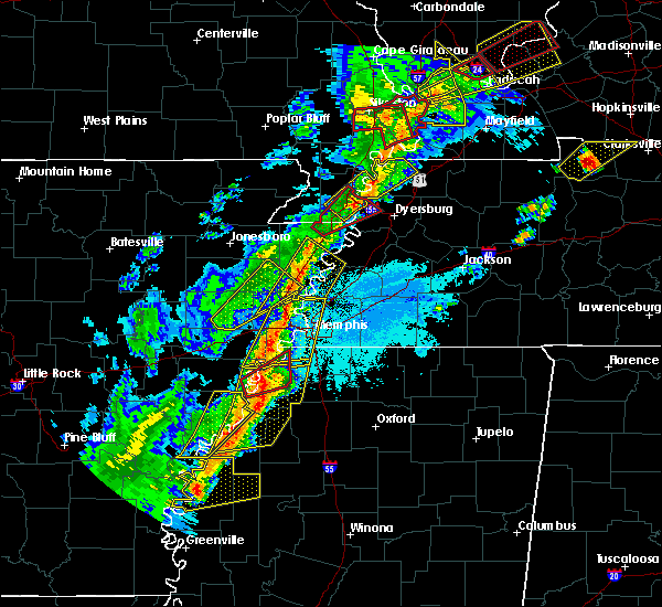 Radar Image for Severe Thunderstorms near Friars Point, MS at 3/28/2020 7:18 PM CDT
