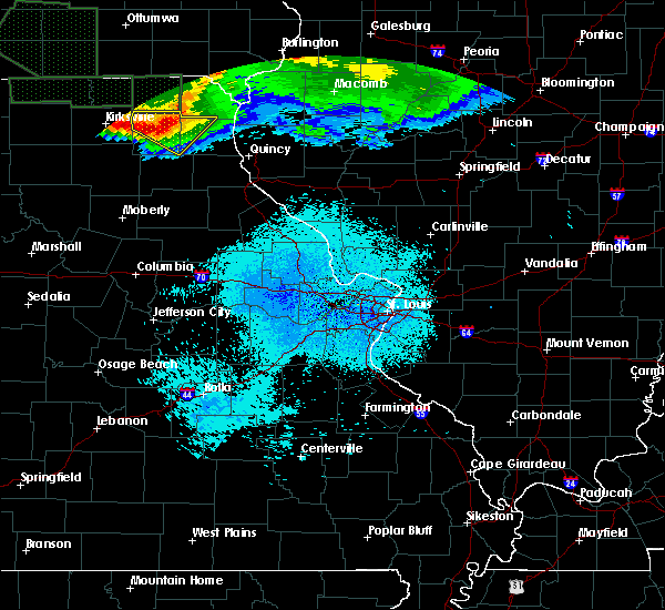 Radar Image for Severe Thunderstorms near La Belle, MO at 6/25/2015 12:10 AM CDT