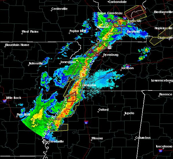 Radar Image for Severe Thunderstorms near Alligator, MS at 3/28/2020 7:30 PM CDT