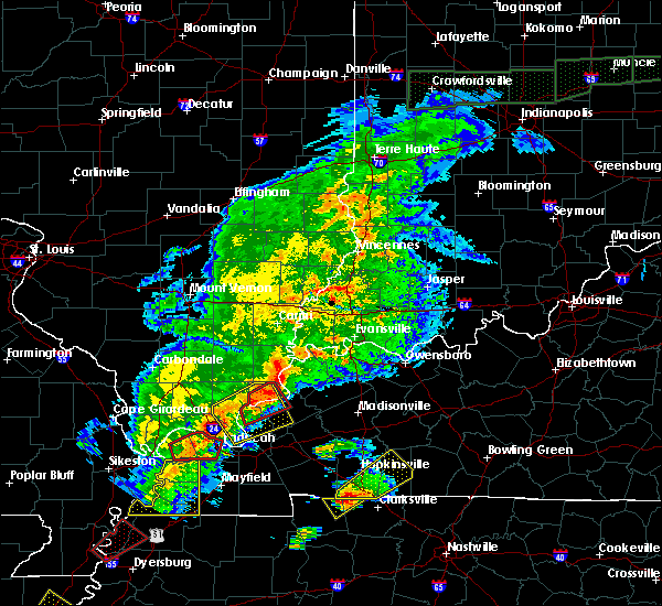 Radar Image for Severe Thunderstorms near Dixon, KY at 3/28/2020 7:37 PM CDT
