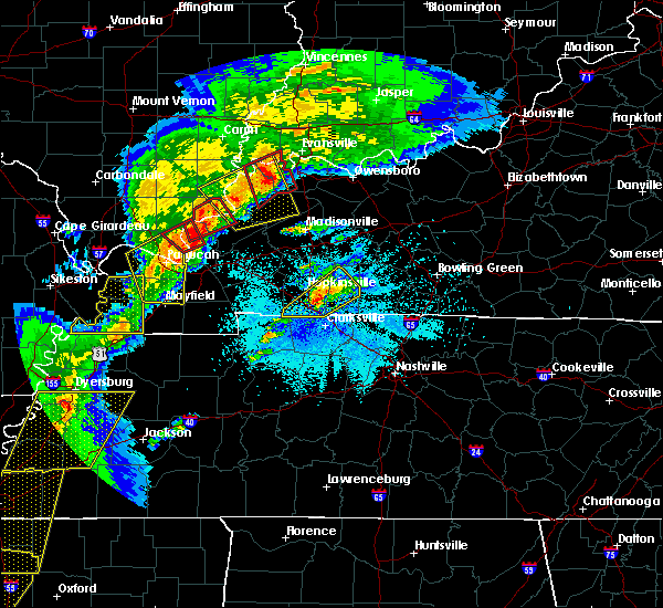 Radar Image for Severe Thunderstorms near Clarksville, TN at 3/28/2020 7:59 PM CDT