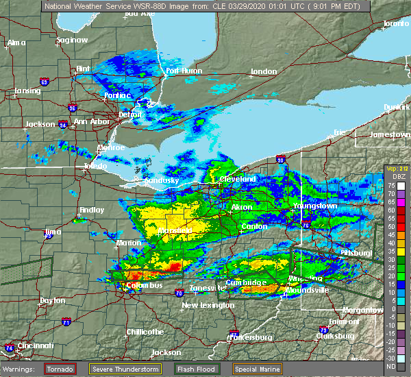 Radar Image for Severe Thunderstorms near Baltic, OH at 3/28/2020 9:07 PM EDT