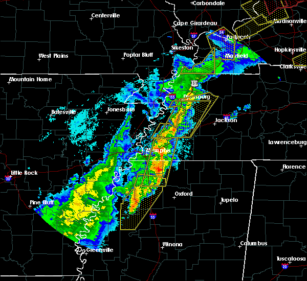 Radar Image for Severe Thunderstorms near Collierville, TN at 3/28/2020 8:14 PM CDT