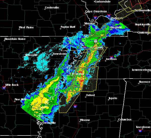 Radar Image for Severe Thunderstorms near Batesville, MS at 3/28/2020 8:19 PM CDT