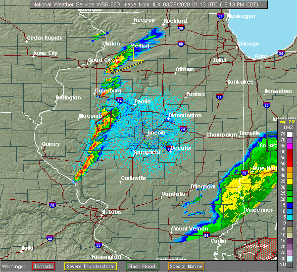 Radar Image for Severe Thunderstorms near St. David, IL at 3/28/2020 8:20 PM CDT