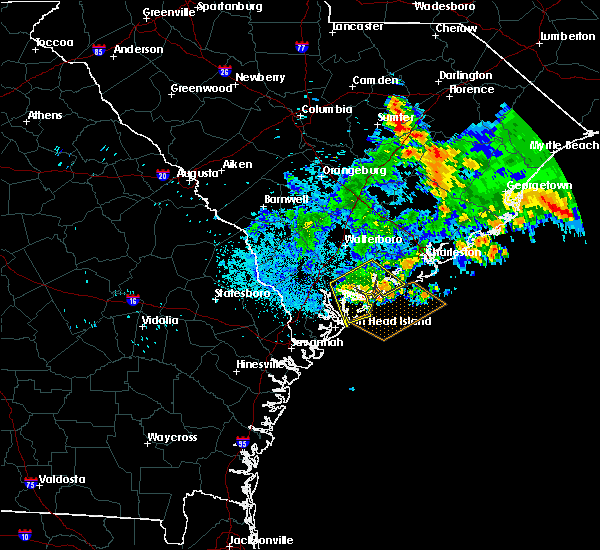 Radar Image for Severe Thunderstorms near Edisto Beach, SC at 6/25/2015 2:08 AM EDT