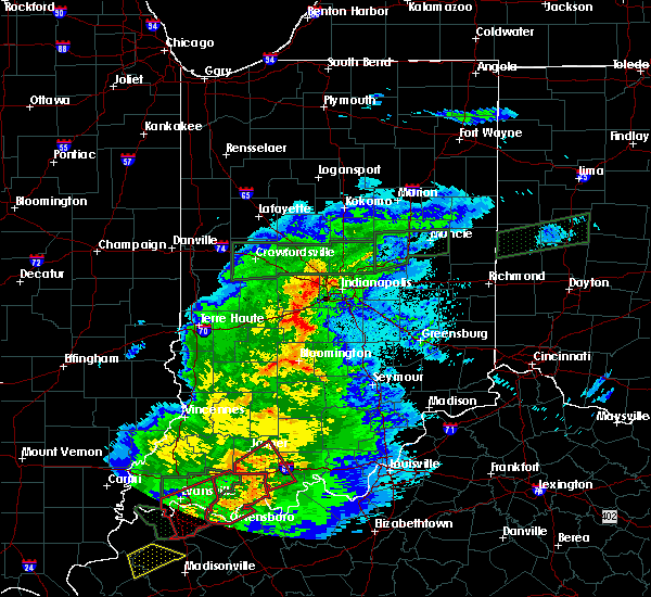 Radar Image for Severe Thunderstorms near Indianapolis, IN at 3/28/2020 9:45 PM EDT