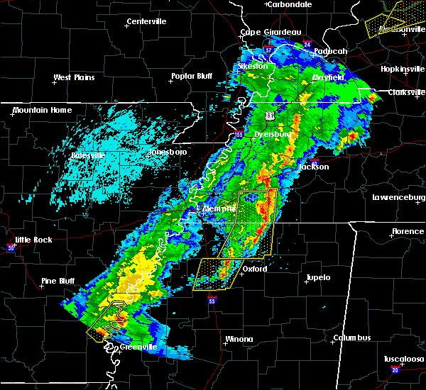 Radar Image for Severe Thunderstorms near Hickory Valley, TN at 3/28/2020 8:56 PM CDT