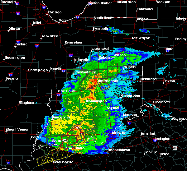 Radar Image for Severe Thunderstorms near Indianapolis, IN at 3/28/2020 10:01 PM EDT