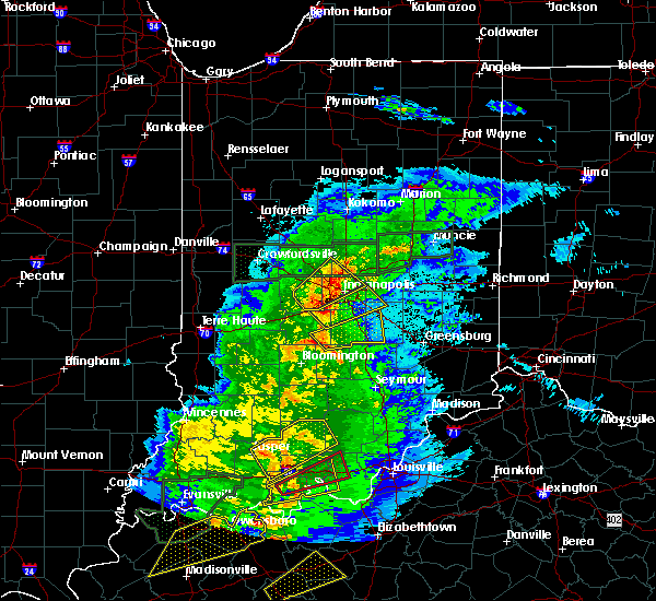 Radar Image for Severe Thunderstorms near Bargersville, IN at 3/28/2020 10:05 PM EDT
