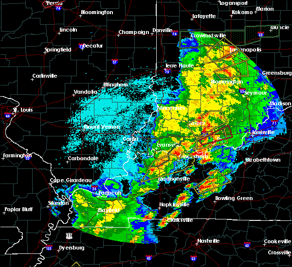 Radar Image for Severe Thunderstorms near Robards, KY at 3/28/2020 9:10 PM CDT