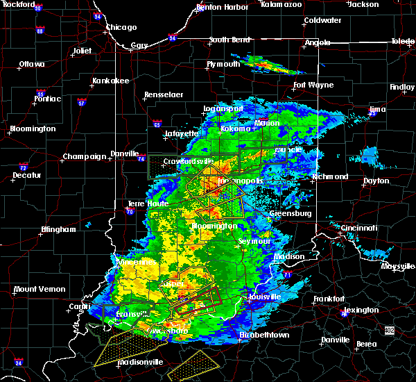 Radar Image for Severe Thunderstorms near Indianapolis, IN at 3/28/2020 10:12 PM EDT
