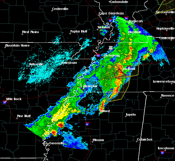 Radar Image for Severe Thunderstorms near Batesville, MS at 3/28/2020 9:12 PM CDT