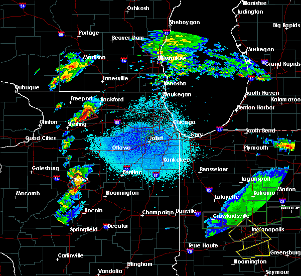 Radar Image for Severe Thunderstorms near Oregon, IL at 3/28/2020 9:15 PM CDT