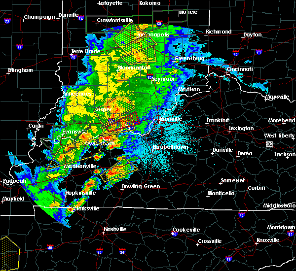 Radar Image for Severe Thunderstorms near French Lick, IN at 3/28/2020 10:14 PM EDT