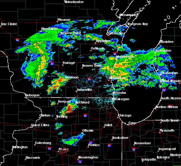 Radar Image for Severe Thunderstorms near New Milford, IL at 3/28/2020 9:22 PM CDT
