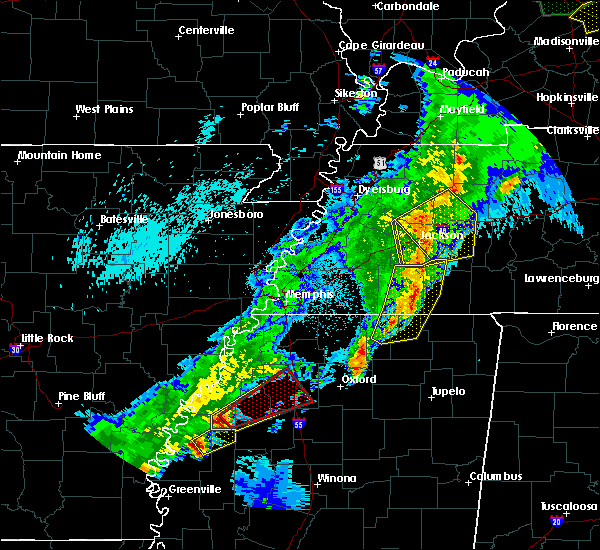 Radar Image for Severe Thunderstorms near Cleveland, MS at 3/28/2020 9:22 PM CDT