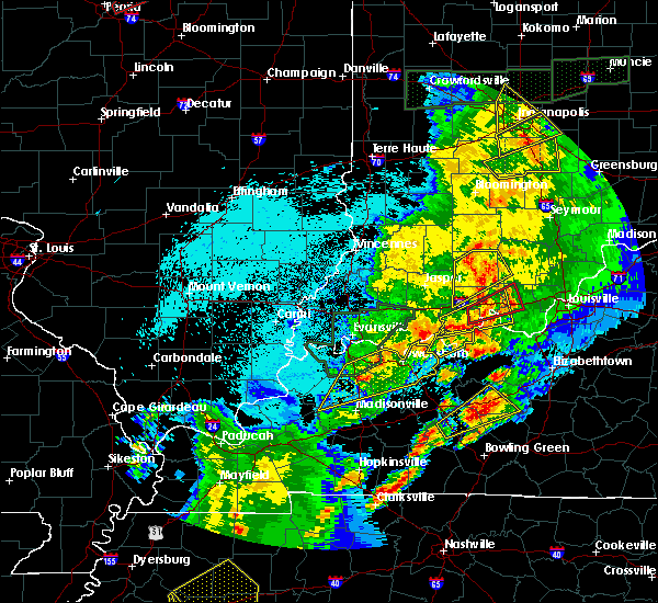 Radar Image for Severe Thunderstorms near Owensboro, KY at 3/28/2020 9:24 PM CDT