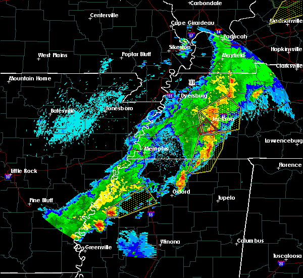 Radar Image for Severe Thunderstorms near Batesville, MS at 3/28/2020 9:23 PM CDT