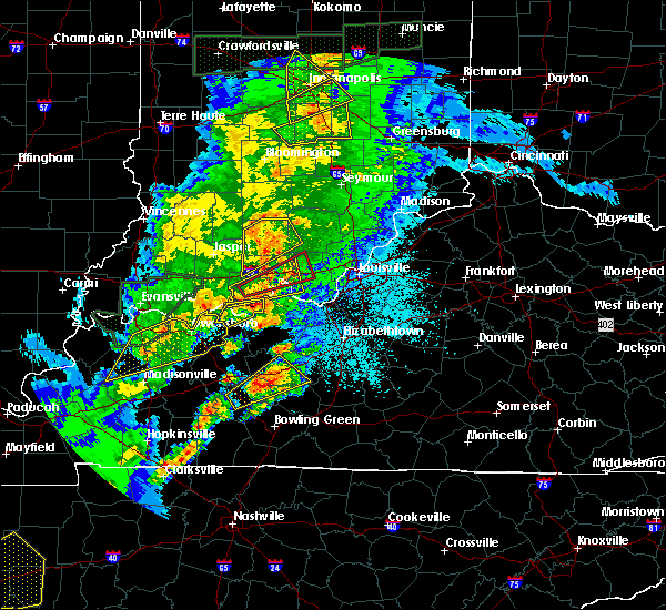 Radar Image for Severe Thunderstorms near Henryville, IN at 3/28/2020 10:31 PM EDT