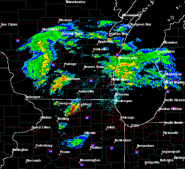 Radar Image for Severe Thunderstorms near New Milford, IL at 3/28/2020 9:32 PM CDT