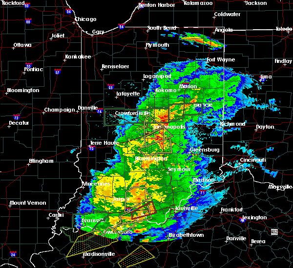 Radar Image for Severe Thunderstorms near Cumberland, IN at 3/28/2020 10:33 PM EDT