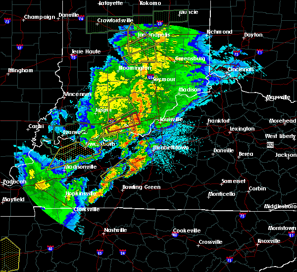 Radar Image for Severe Thunderstorms near Upton, KY at 3/28/2020 9:38 PM CDT