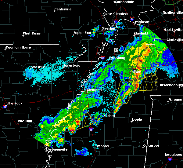 Radar Image for Severe Thunderstorms near Saulsbury, TN at 3/28/2020 9:44 PM CDT