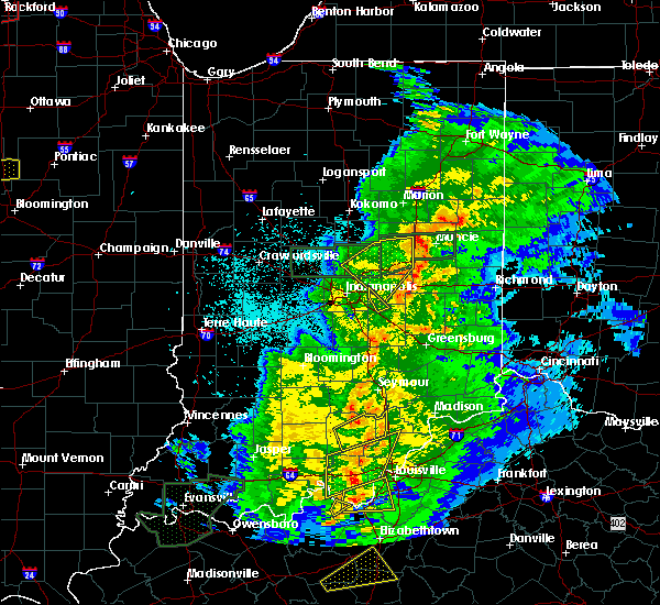 Radar Image for Severe Thunderstorms near Selma, IN at 3/28/2020 10:52 PM EDT