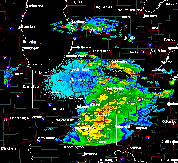 Radar Image for Severe Thunderstorms near Redkey, IN at 3/28/2020 10:59 PM EDT