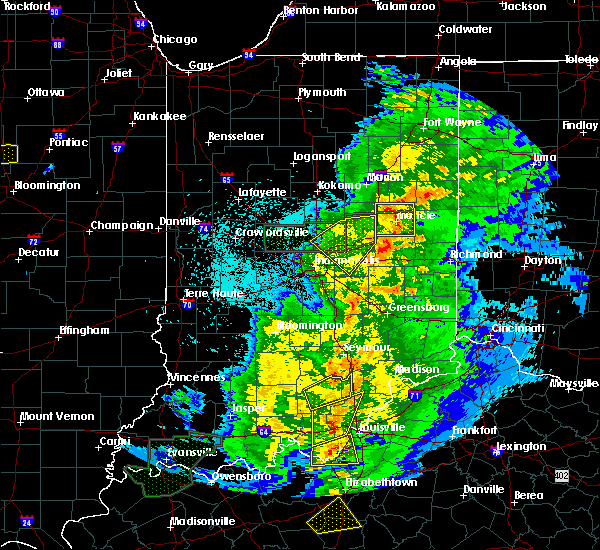 Radar Image for Severe Thunderstorms near New Castle, IN at 3/28/2020 10:58 PM EDT