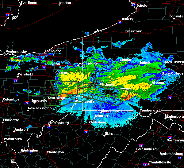 Radar Image for Severe Thunderstorms near Benwood, WV at 3/28/2020 11:01 PM EDT