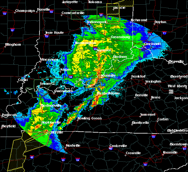 Radar Image for Severe Thunderstorms near Shively, KY at 3/28/2020 11:08 PM EDT