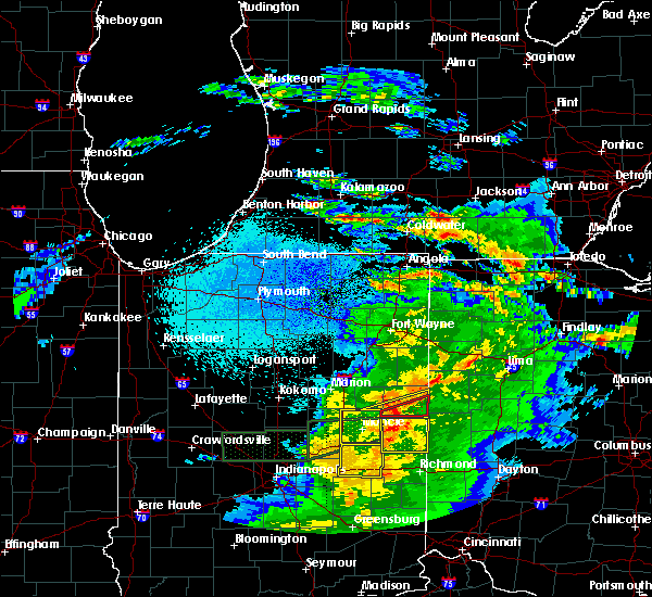 Radar Image for Severe Thunderstorms near Redkey, IN at 3/28/2020 11:19 PM EDT