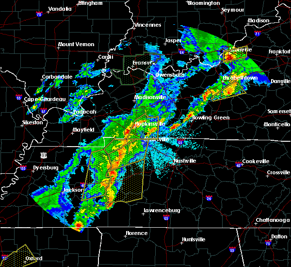 Radar Image for Severe Thunderstorms near Clarksville, TN at 3/28/2020 10:18 PM CDT