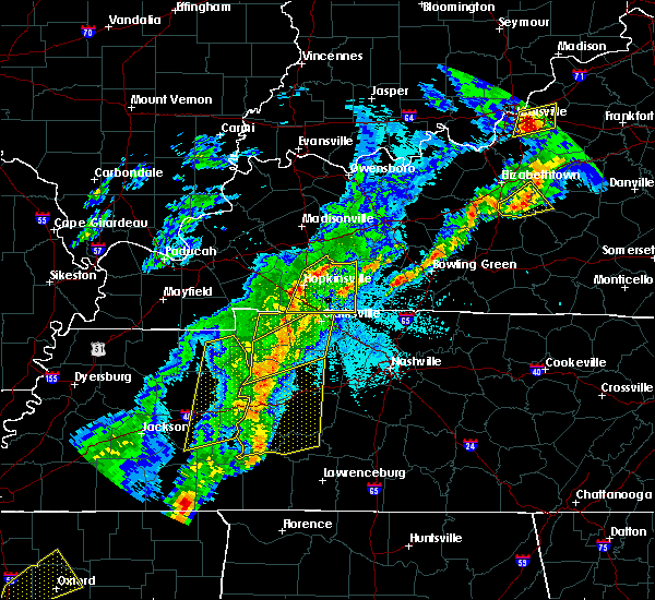 Radar Image for Severe Thunderstorms near Bowling Green, KY at 3/28/2020 10:25 PM CDT