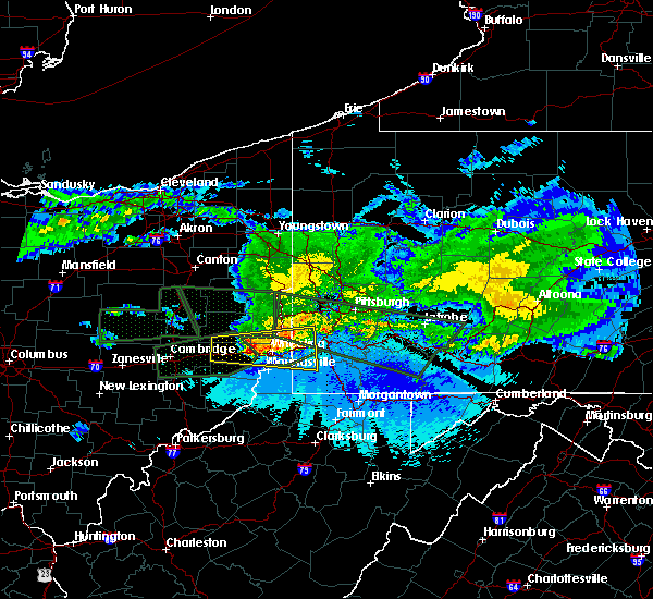 Radar Image for Severe Thunderstorms near Benwood, WV at 3/28/2020 11:24 PM EDT